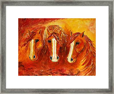 Fire Angels Framed Print