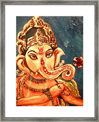Ganesh Framed Print by Sabrina Phillips