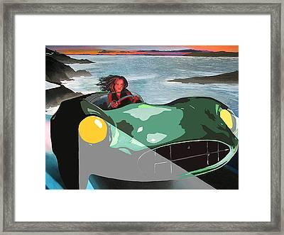 Girl In Green Aston Framed Print by Geoff Greene