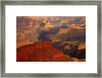 Grand Canyon At Sunrise Framed Print by Stephen  Vecchiotti
