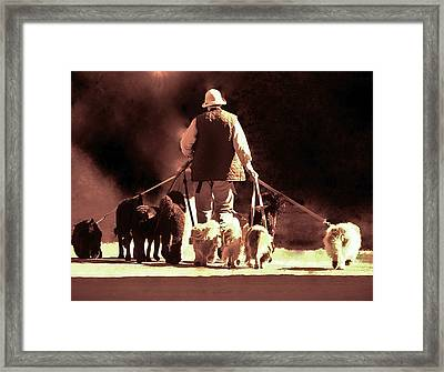 I Love This Job Framed Print