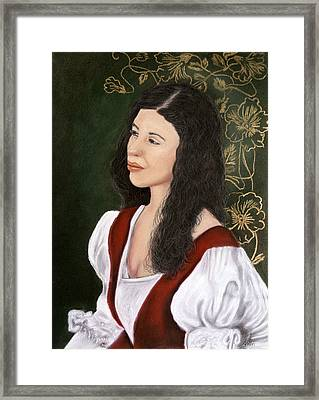Lady Lauren Framed Print by Jan Amiss