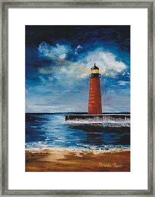 Lonely Beacon Framed Print