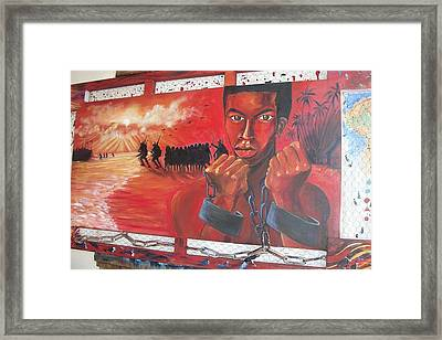 Roots Of Slavery Framed Print by Leon Salako