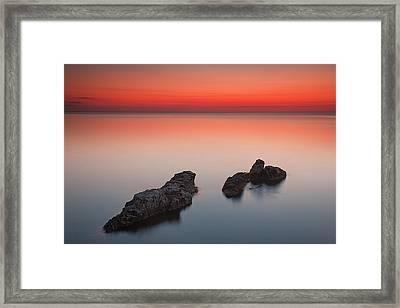 Sea Rocks Framed Print by Evgeni Dinev