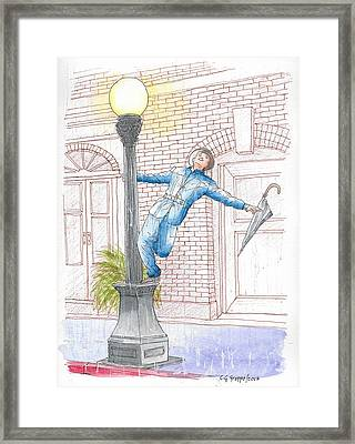Gene Kelly In Singing In The Rain, 1952 Framed Print by Carlos G Groppa