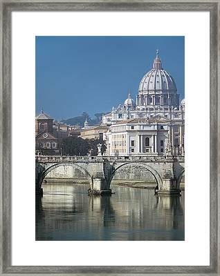 St Peters Basilica, Rome, Italy Framed Print by Martin Child