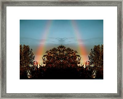 The Rainbow Effect Framed Print by Sue Stefanowicz