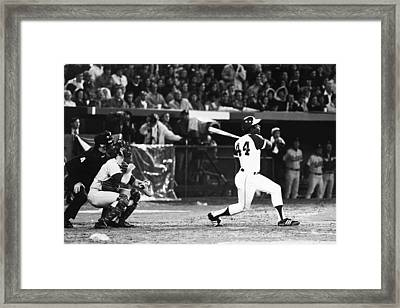 Hank Aaron (1934- ) Framed Print by Granger