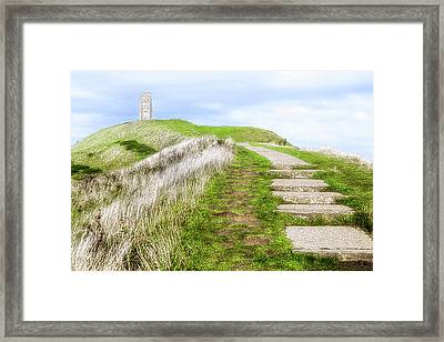 Glastonbury Tor - England Framed Print by Joana Kruse