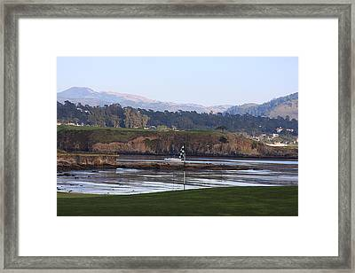 18th At Pebble Beach Framed Print