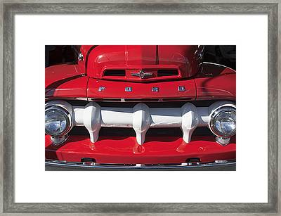 1952 Ford F-1 Pickup Truck Grille Framed Print by Jill Reger