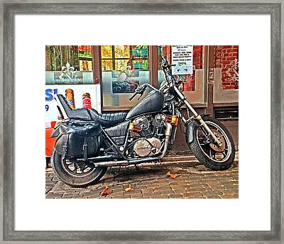 1983 Vt750 C Honda Shadow Framed Print by Greg Sigrist