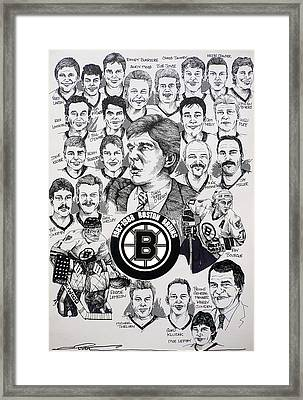 1988 Boston Bruins Newspaper Poster Framed Print by Dave Olsen