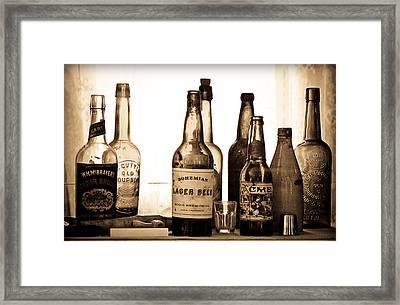 19th Century Liquor Bottles  Framed Print