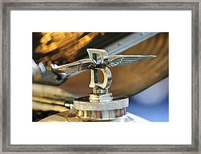 1927 Bentley 6.5 Litre Sports Tourer Hood Ornament Framed Print by Jill Reger