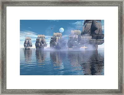 Battle Line Framed Print by Claude McCoy