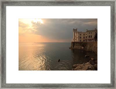 Miramare Sunset Framed Print