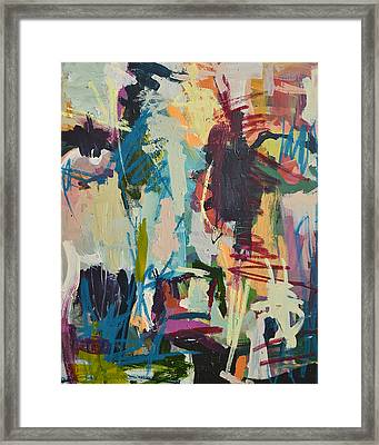 Modern Abstract Cow Painting Framed Print