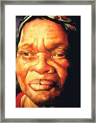 The Gaze Of Mother Witt Framed Print by Curtis James