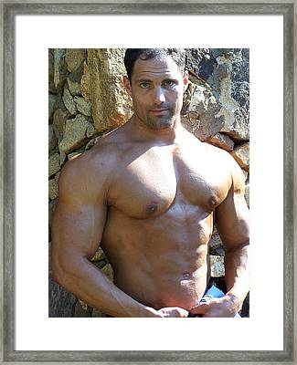 Male Muscle Art Marius Framed Print