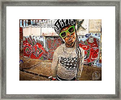 Street Phenomenon Lil Wayne Framed Print by The DigArtisT