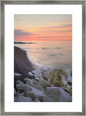 Sunrise At The White Cliffs Of Dover Framed Print