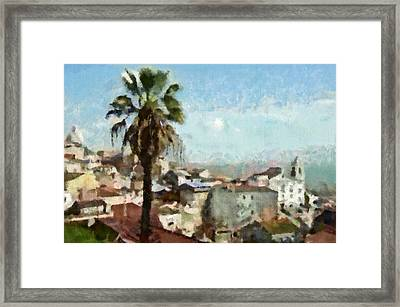 Framed Print featuring the painting Lisbon by Dariusz Gudowicz
