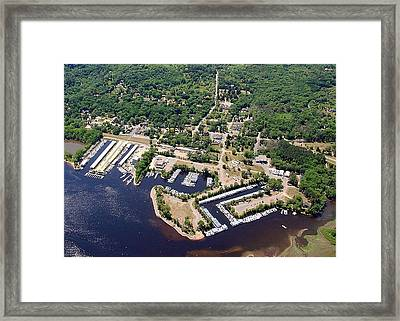 Framed Print featuring the photograph A-005 Afton Minnesota Harbors by Bill Lang