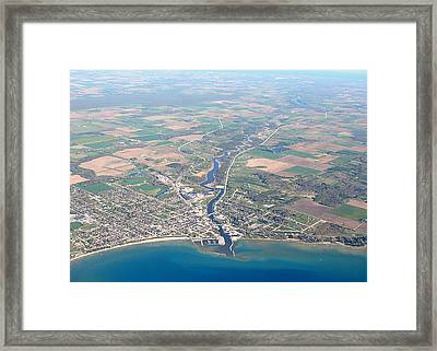 Framed Print featuring the photograph A-006 Algoma Wisconsin by Bill Lang