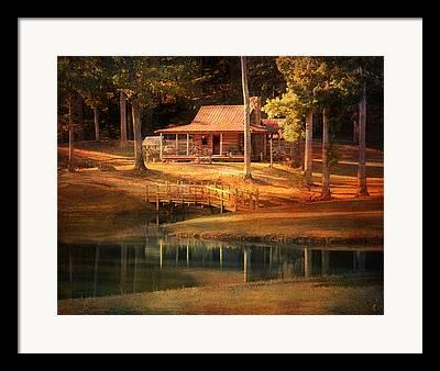 Log Cabins Framed Prints