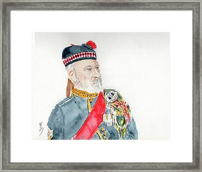 Framed Print featuring the painting A Scottish Soldier by Yoshiko Mishina