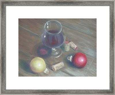 A Wine Christmas Framed Print by Ellen Minter