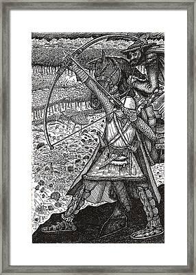 Abbadon Takes Aim Framed Print by Al Goldfarb