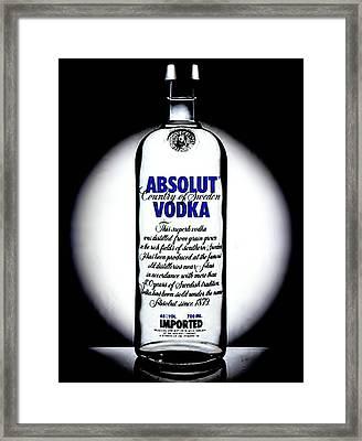 Absolut Vodka Framed Print by Luis Ludzska