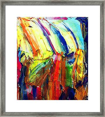 Abstract Colored Rain Framed Print