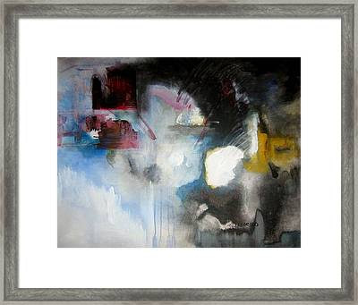 Abstract No 5 Framed Print by Halle Treanor