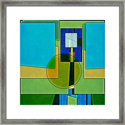 Abstract Shapes Color Two Framed Print by Gary Grayson