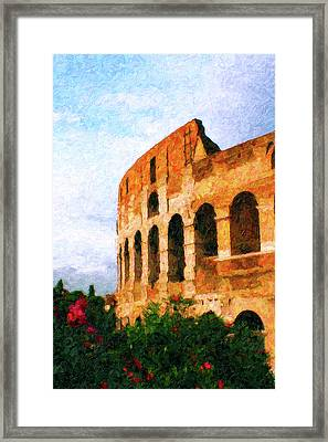 Afternoon In Rome Framed Print