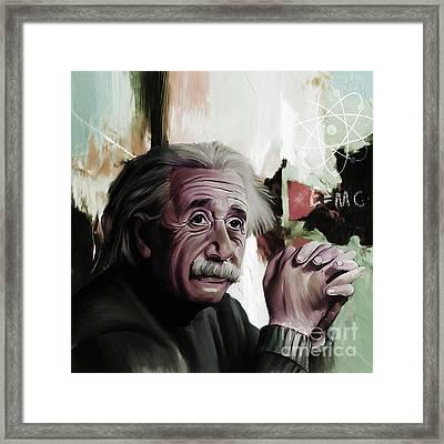 Albert Einstein  Framed Print by Gull G