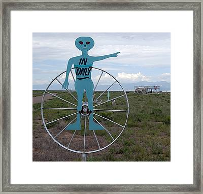 Alien In Only 2 Framed Print by Joseph R Luciano
