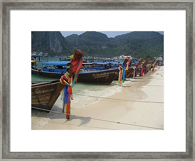 All Tied Up Framed Print by James Lukashenko