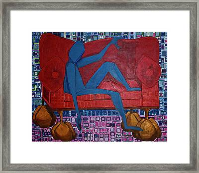 Framed Print featuring the painting Am I Blue by Donna Howard