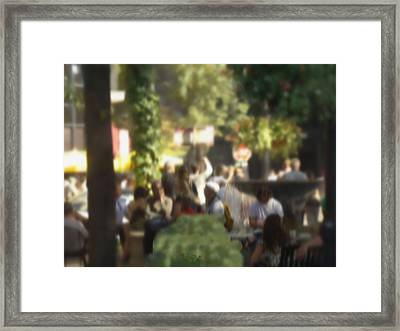 An Afternoon On Rush Street Framed Print