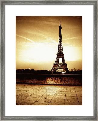Ancient Paris Tour Eiffel Framed Print by Noovae