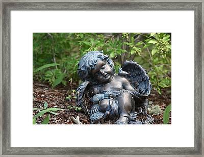 Angel Along The Way Framed Print by Marjorie Imbeau