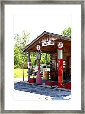 Antique Car And Filling Station 2 Framed Print by Douglas Barnett