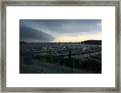 Approaching Storm Framed Print by Andy  Mercer