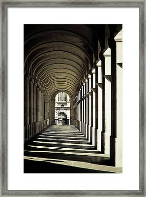 Arches Of Grand Theatre Framed Print by Mickaël.G