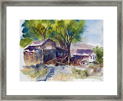 Framed Print featuring the painting Arcularis Barn by Pat Crowther